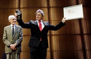 Uitreiking VSCD Klassieke Muziekprijs door Gustav Leonhardt